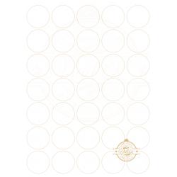 OBLEA BLANCA. REF. 00245